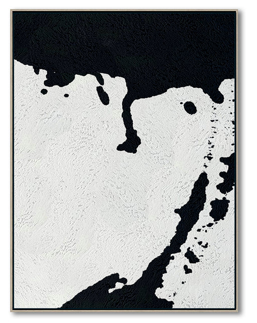 Oversized Black and White Abstract Canvas Wall Art, Original Oil Painting, Living Room Wall Art Decor no. 27