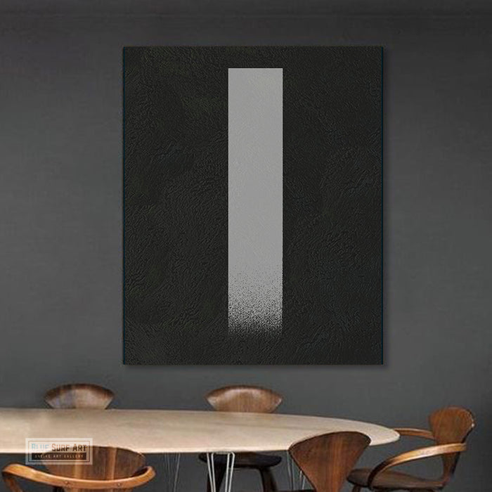 Oversized Abstract Canvas Wall Art, Original Oil Painting, Minimalist Black and White Living Room Wall Art Decor no. 47