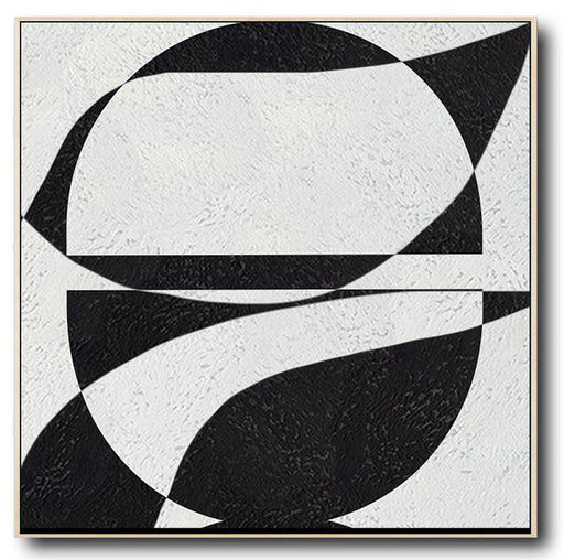 Abstract Painting, Oversized Black and White Wall Art Painting no. 084