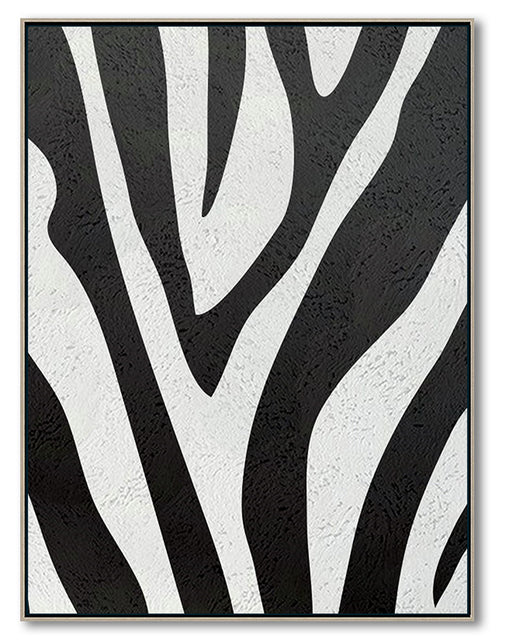 Modern Abstract Canvas Wall Art, Original Oil Painting, Black and White Living Room Wall Art Decor no. 94