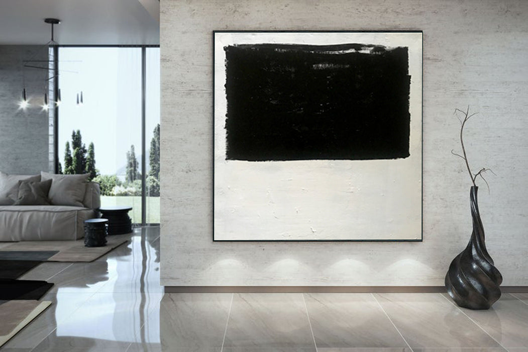 Extra Large Abstract Painting On Canvas, Oversized Minimalist Painting 5