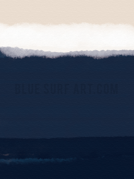Indigo Ocean Canvas Art Print II, Wall Art, Home Decor I Blue Surf Art