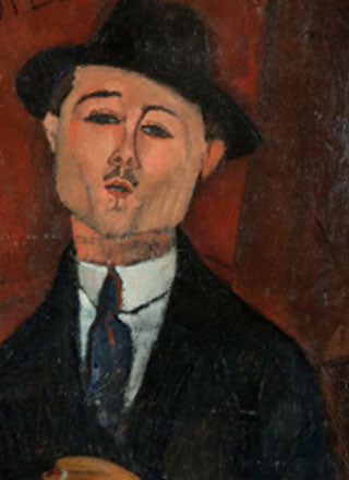 Portrait of Paul Guillaume painting by Amedeo Modigliani reproduction, in oil painting on canvas