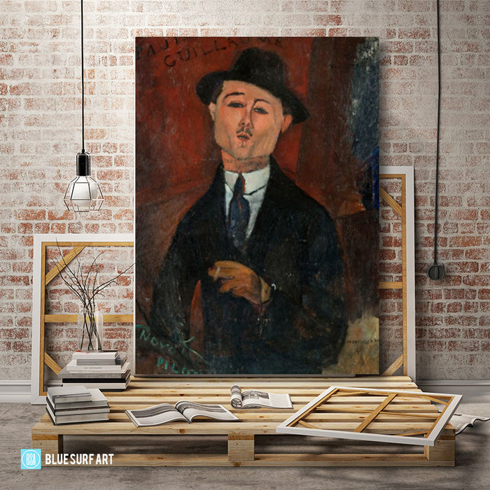 Portrait of Paul Guillaume painting by Amedeo Modigliani reproduction, in oil painting on canvas - studio