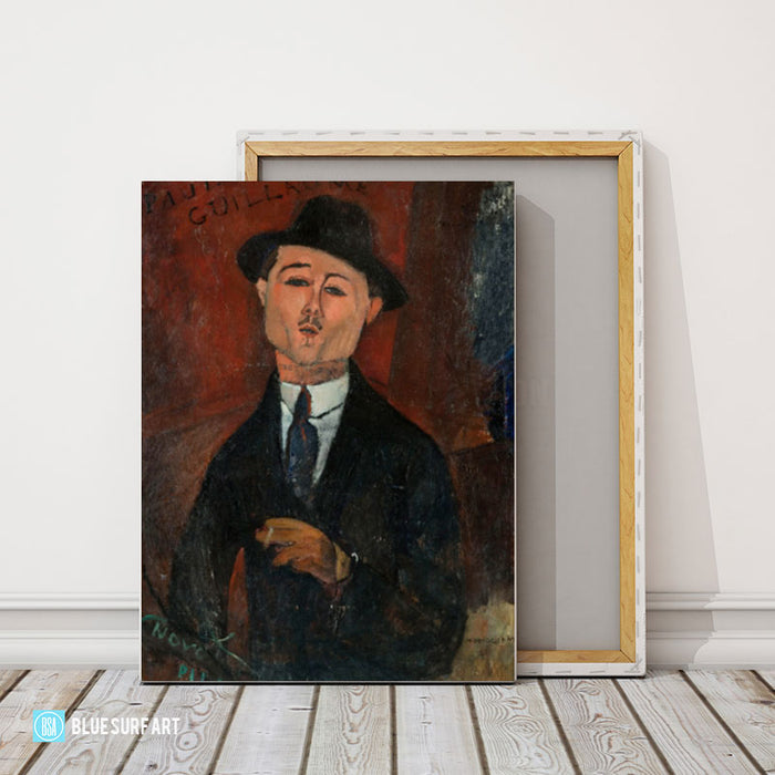 Portrait of Paul Guillaume painting by Amedeo Modigliani reproduction, in oil painting on canvas - product showcase