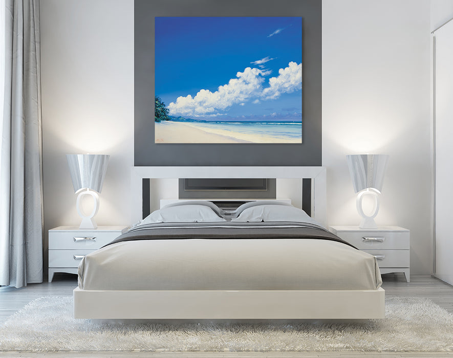 Anse Bougainville prints on canvas