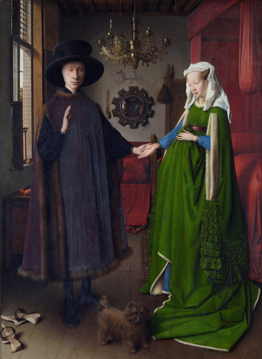 Arnolfini Portrait and His Wife, 1434. Reproduction painting by Blue Surf Art