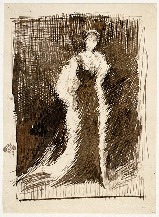 Portrait of Lady Meux by James Abbott McNeill Whistler Reproduction Painting by Blue Surf Art