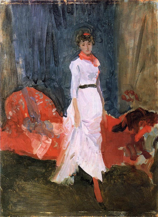 Arrangement in Pink, Red and Purple by James Abbott McNeill Whistler Reproduction Painting by Blue Surf Art