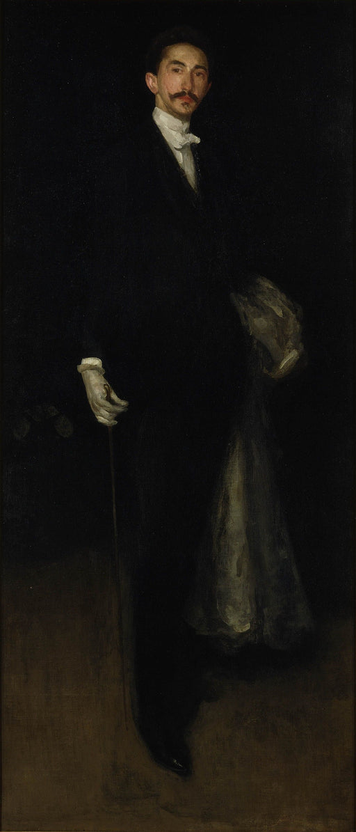 Arrangement in Black and Gold by James Abbott McNeill Whistler Reproduction Painting by Blue Surf Art