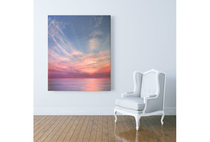 Bahamas Sunset painting by Derek Hare - corner space