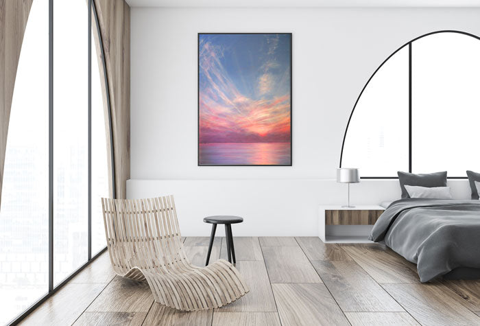 Bahamas Sunset painting by Derek Hare - living area