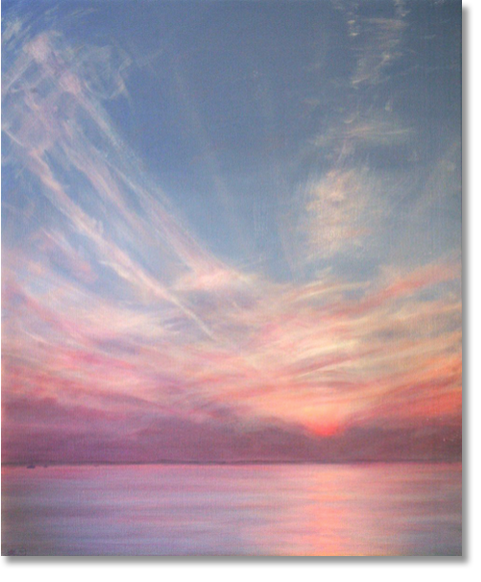Bahamas Sunset painting by Derek Hare