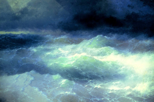 Between Waves by Ivan Aivazovsky Reproduction Painting by Blue Surf Art