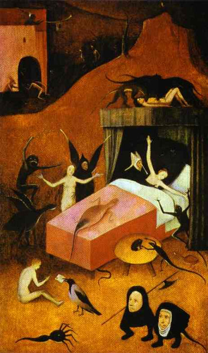 Death of the Reprobate by Hieronymus Bosch I Blue Surf Art