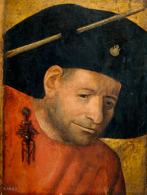 Head of a Halberdier by Hieronymus Bosch I Blue Surf Art