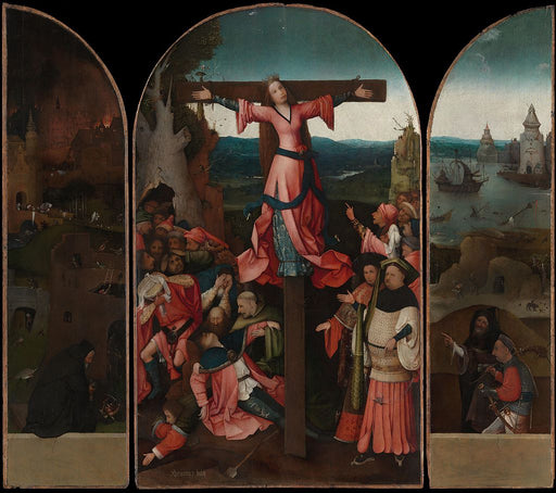 The Crucifixion of St Julia by Hieronymus Bosch I Blue Surf Art