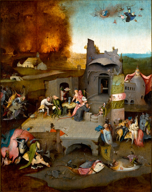 Temptation of Saint Anthony by Hieronymus Bosch I Blue Surf Art