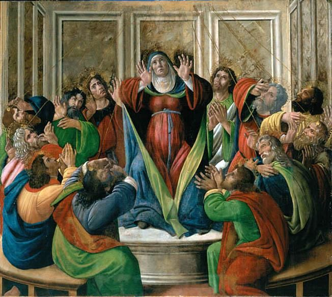 The Descent of the Holy Ghost by Sandro Botticelli I Blue Surf Art
