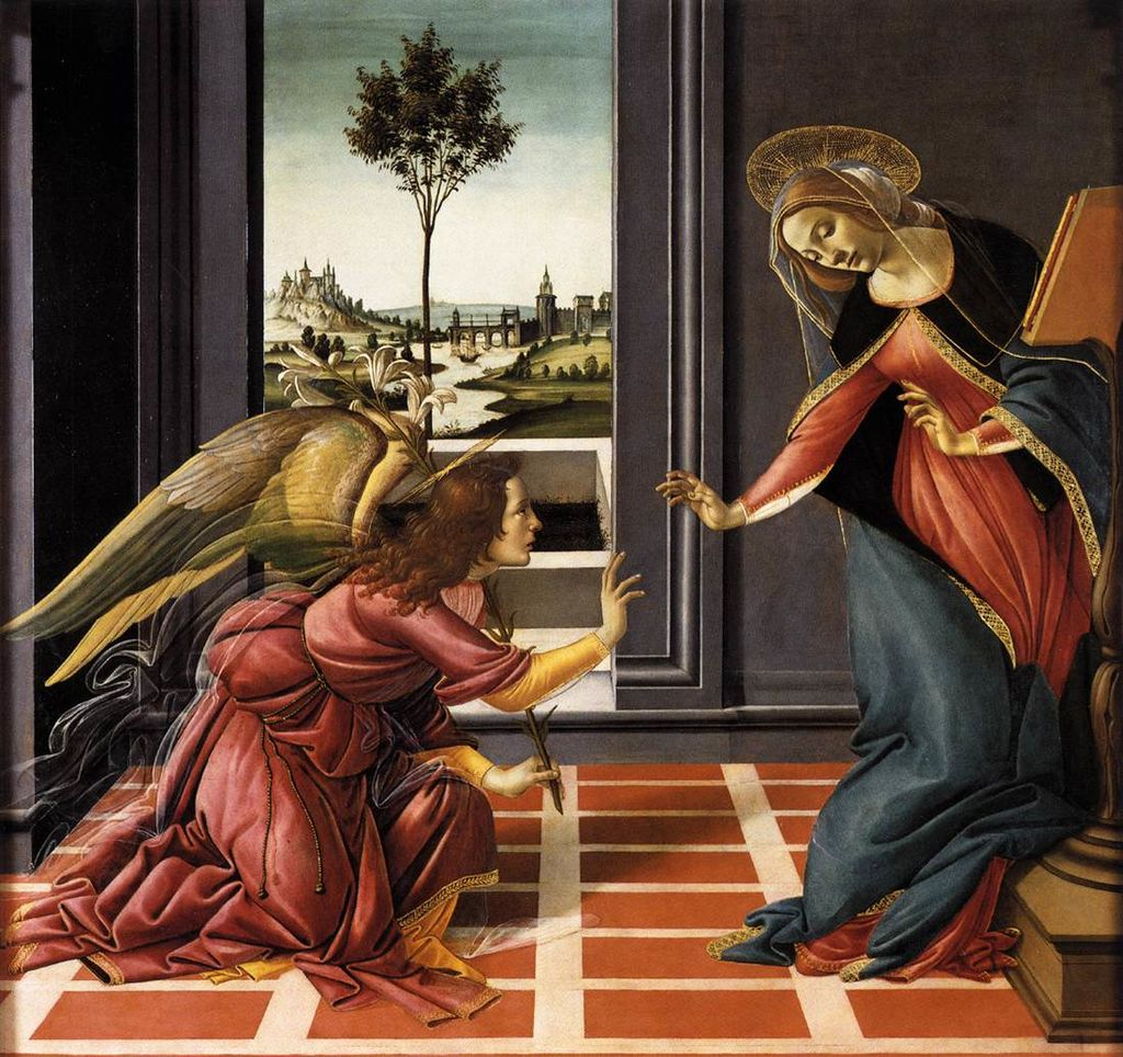 Cestello Annunciation by Sandro Botticelli I Blue Surf Art