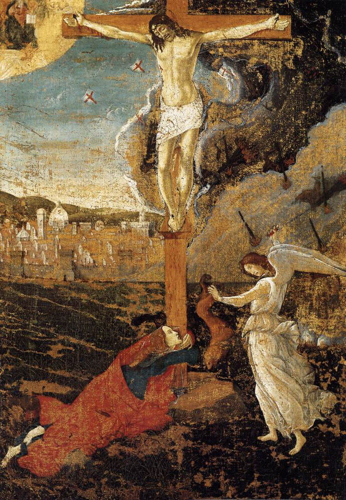 Mystic Crucifixion by Sandro Botticelli I Blue Surf Art