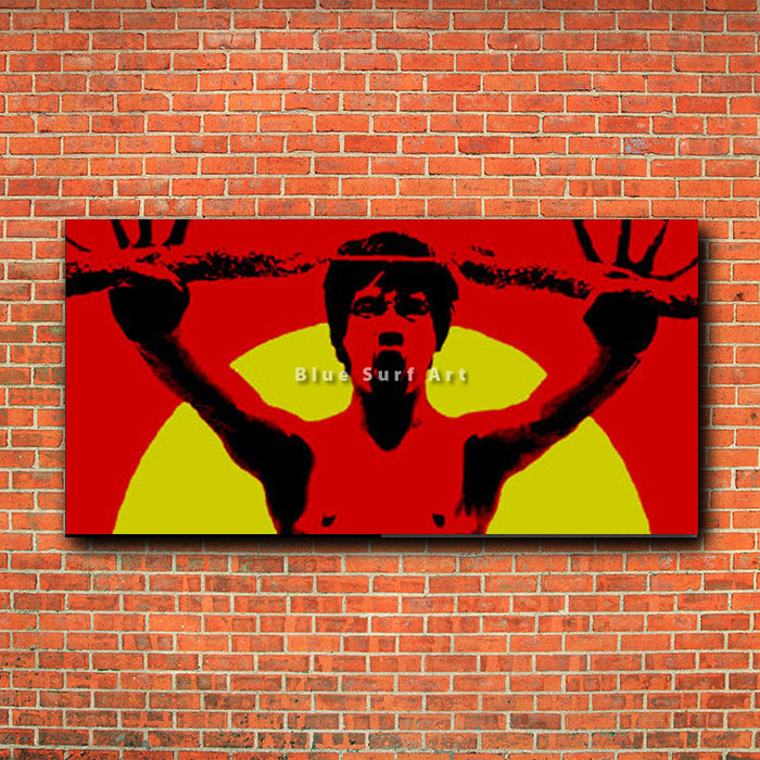 Bruce Lee Martial Arts - red bricks wall
