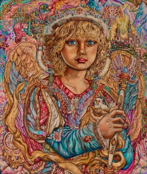 Angel Hodiel Painting