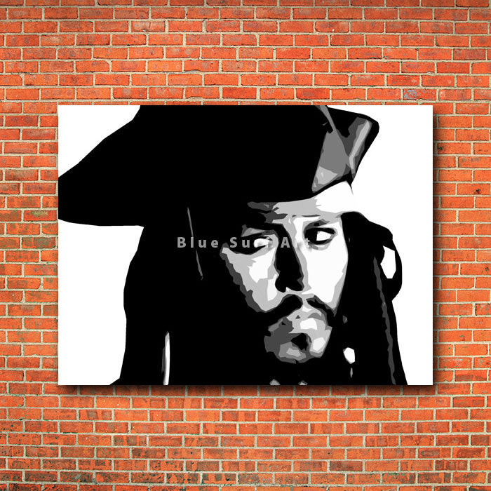 Captain Jack Sparrow - red brick wall