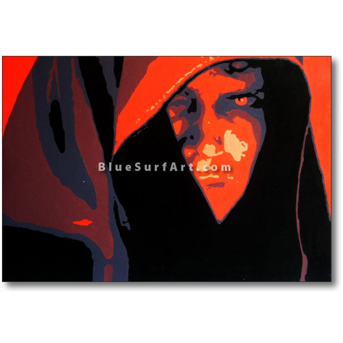 Dark Side - Anakin Skywalker Oil Painting on Canvas by Blue Surf Art