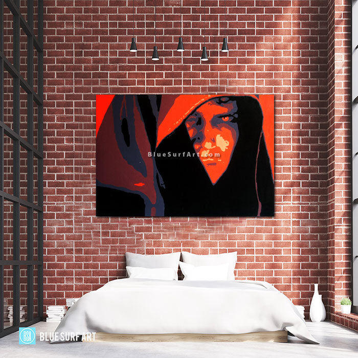 Dark Side - Anakin Skywalker Oil Painting on Canvas by Blue Surf Art - Bed Room Showcase