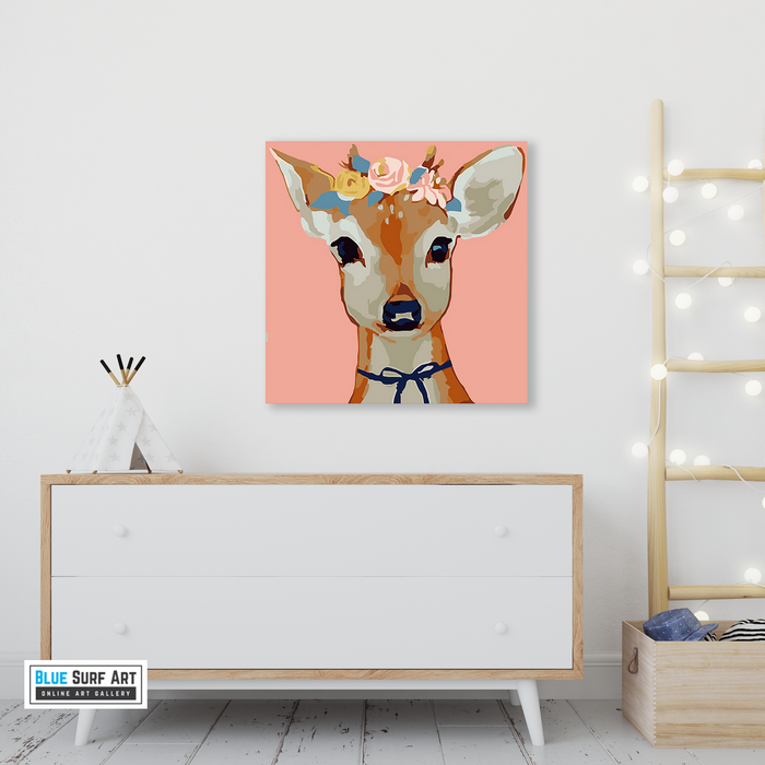 Pretty Deer Canvas Art Painting, Animal Pop Art, Room Decor, Wall Art - 5 - showcase