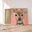 Pretty Deer Canvas Art Painting, Animal Pop Art, Room Decor, Wall Art - 6- with frame