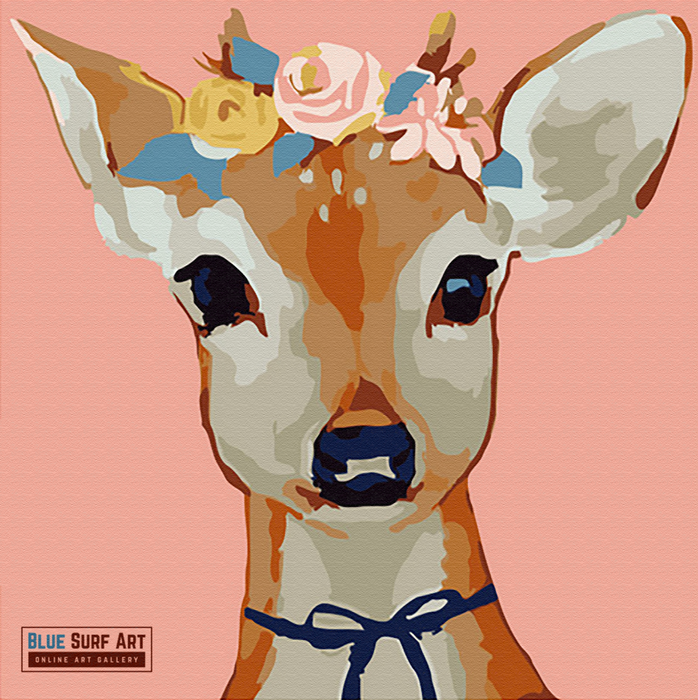 Pretty Deer Canvas Art Painting, Animal Pop Art, Room Decor, Wall Art - 1