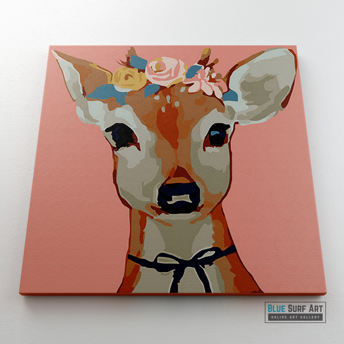 Pretty Deer Canvas Art Painting, Animal Pop Art, Room Decor, Wall Art - 2