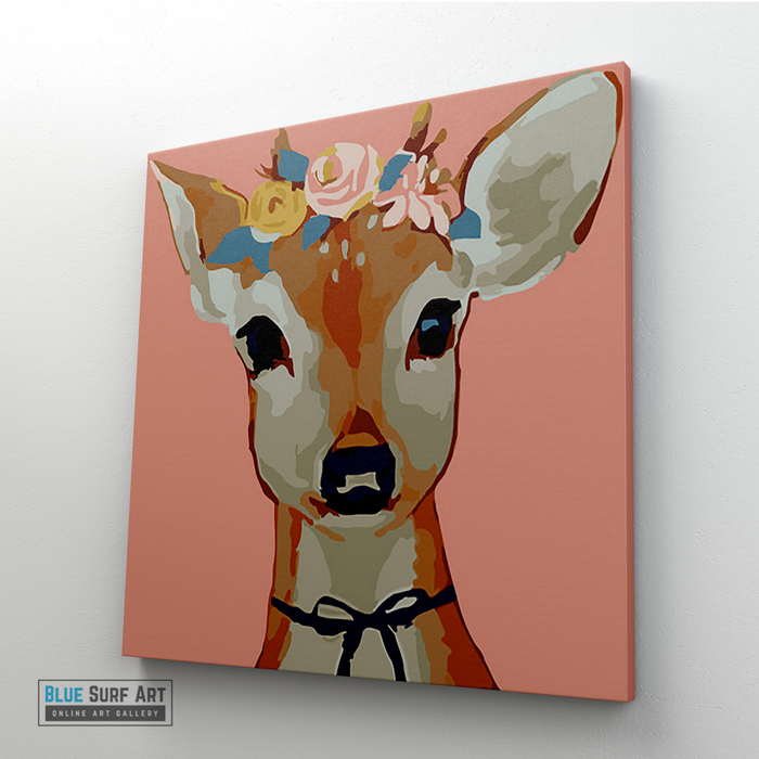 Pretty Deer Canvas Art Painting, Animal Pop Art, Room Decor, Wall Art - 4