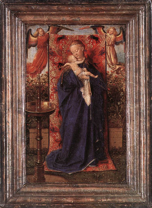 Madonna at the Fountain by Blue Surf Art by Jan Van Eyck Reproduction Painting by Blue Surf Art