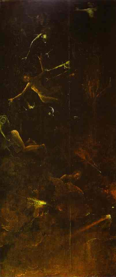 Fall of the Damned into Hell by Hieronymus Bosch I Blue Surf Art