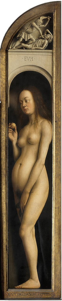 Eve by Jan Van Eyck Reproduction Painting by Blue Surf Art