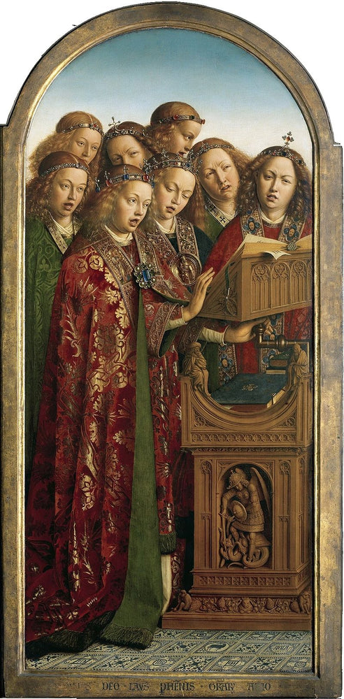 Singing Angels by Jan Van Eyck Reproduction Painting by Blue Surf Art
