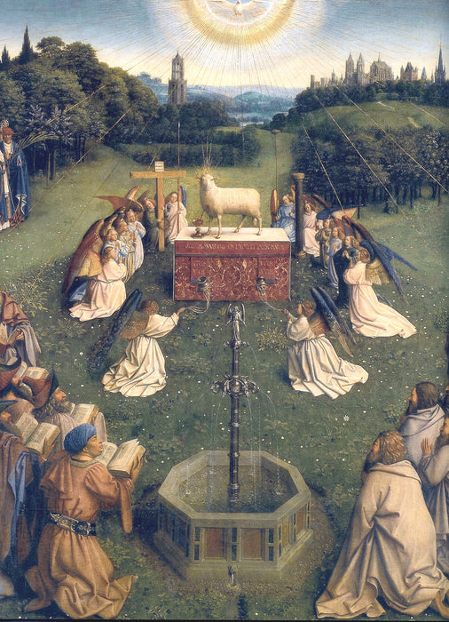 Adoration of the Lamb by Jan Van Eyck Reproduction Painting by Blue Surf Art
