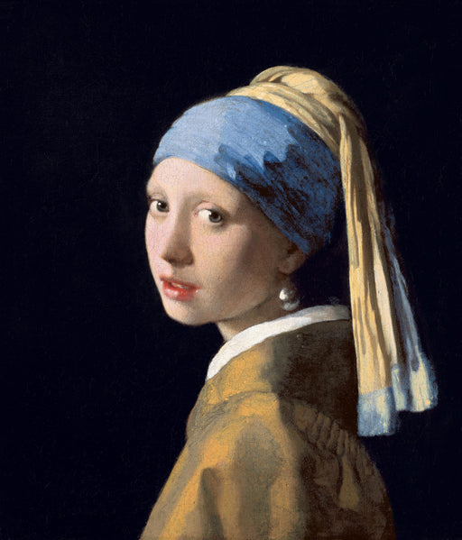 Girl with a Pearl Earring, 1665 by Johannes Vermeer. Reproduction oil painting by Blue Surf Art