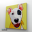 Happy Puppy Canvas Art Painting, Animal Pop Art, Room Decor, Wall Art - sideway
