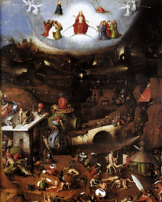 The Last Judgment by Hieronymus Bosch I Blue Surf Art