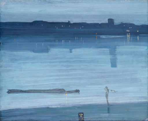 Nocturne: Blue and Silver – Chelsea by James Abbott McNeill Whistler Reproduction Painting by Blue Surf Art