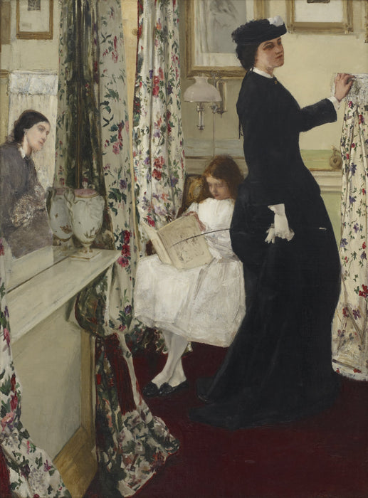 Harmony in Green and Rose: The Music Room by James Abbott McNeill Whistler Reproduction Painting by Blue Surf Art