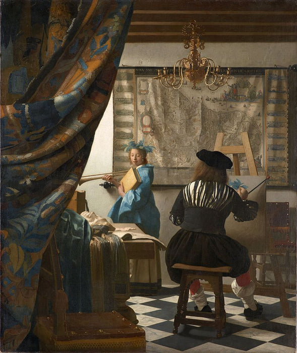 The Art of Painting Alternative title(s): The Allegory of Painting  Painter in his Studio by Johannes Vermeer Reproduction Painting by Blue Surf Art