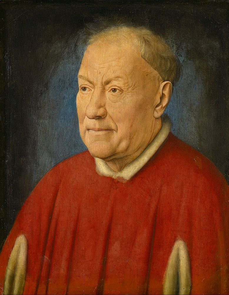 Portrait of Cardinal Niccolò Albergati by Blue Surf Art by Jan Van Eyck Reproduction Painting by Blue Surf Art