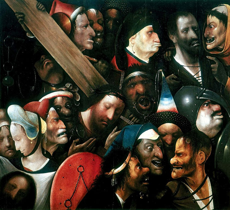 Christ Carrying the Cross (Bosch, Ghent) by Hieronymus Bosch I Blue Surf Art