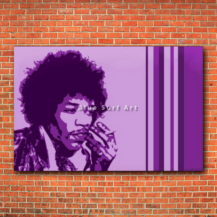 Jimi Hendrix - red brick wall