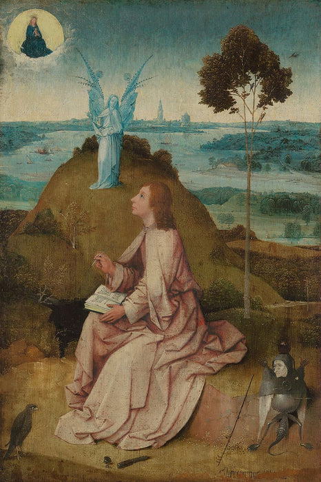 St. John the Evangelist on Patmos by Hieronymus Bosch I Blue Surf Art